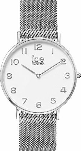 ICE-Watch - 012701 - City Milanese - Montre Mixte - Cadran Blanc - Bracelet Acier Argent - Medium - 2H.