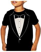 "Kids ""Classic"" Tuxedo T-Shirt (Black)"