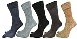 Rc. Royal Class Womens Woolen|Spandex Socks (Pack of 5) (RCWOOLENTHUMBASSTD_Multicolored_Free Size)