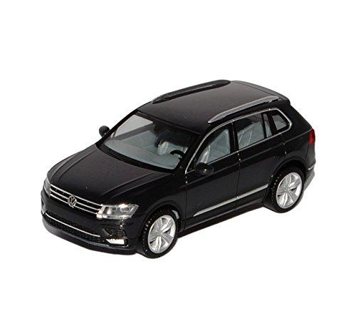 VW-Volkswagen-Tiguan-II-Urano-Grau-Schwarz-2-Generation-Ab-2015-H0-187-Herpa-Modell-Auto-mit-individiuellem-Wunschkennzeichen