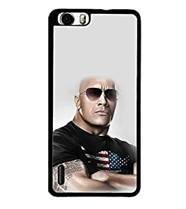 printtech WWE The Rock Back Case Cover for  Huawei Honor 6x