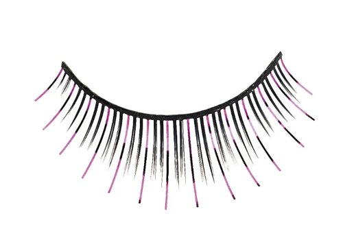Purple Tinsel Eyelashes - Adult Std.