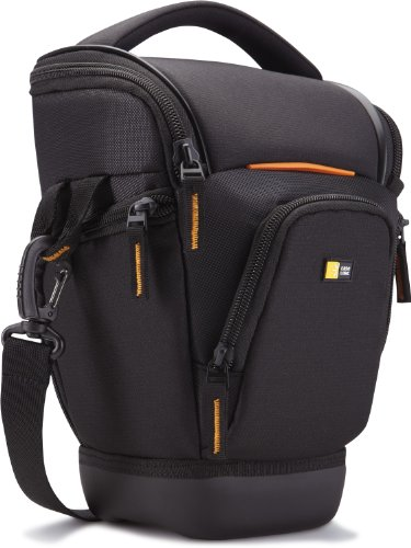 Case Logic Compact Zoom Nylon Bag with EVA protection and Hammock for SLR Camera - Black