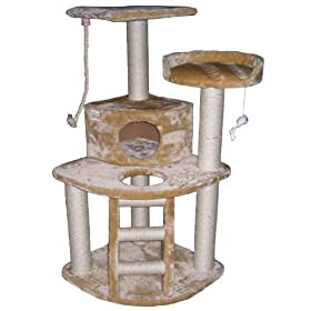 48″ Cat Furniture Tree Condo House Scratcher Post Pet House F08