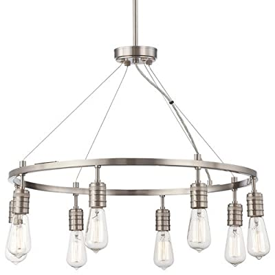 Minka Lavery 4138 8 Light 1 Tier Chandelier from the Downtown Edison Collection,