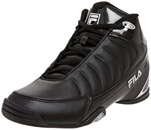 Fila Men's DLS Game 1SB106FX Basketball Shoe,Black/Black/Metallic Silver,7.5 M US