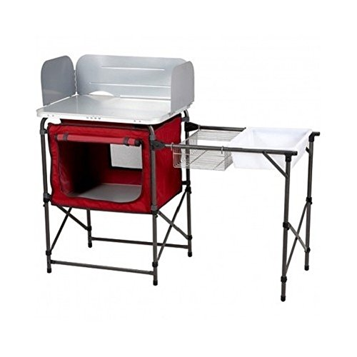 Ozark Trail Deluxe Camp Grill And Sink Table front-565450