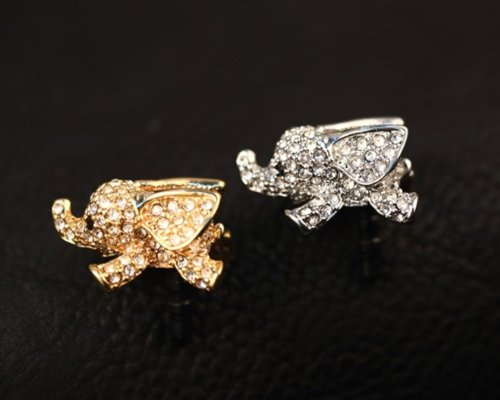 Big Mango Cute Crystal Elephant Anti Dust Plug Stopper / Ear Cap / Cell Phone Charms For Apple Iphone 5 5S,Iphone 4 4S ,Ipad Mini Ipad 2 ,Ipod Touch 5 4,Samsung Galaxy S3 S4 Note3 Note 2,Htc And Other 3.5Mm Earphone Jack Phones ( Golden )
