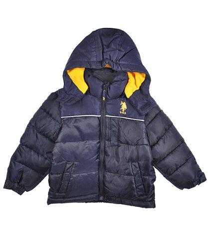 "U.S. Polo Assn. ""Crevasse"" Bubble Jacket (Sizes 2T - 4T) - navy, 4t"