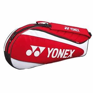YONEX Tournament Basic Series 3 Racquet Bag, Red