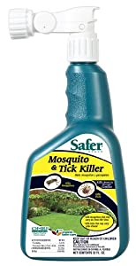 Safer Brand 5108 Mosquito and Tick Killer, 32-Ounce Ready-to-Spray Concentrate