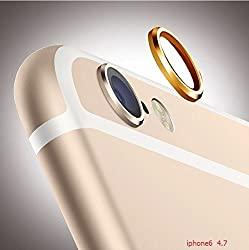 Gioiabazar Camera Lens Protective Case Cover Ring Installed for Apple iPhone 6 5.5 (Gold)