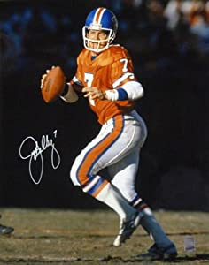 John Elway Autographed Denver Broncos Orange Crush 16x20 Photo by DenverAutographs