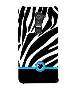 Vizagbeats heart symbol zybra stripes Back Case Cover for LG G2::LG G2 D800 D980