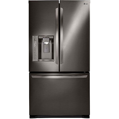 LG Stainless Steel 24 cu. ft. Ultra Capacity 3-Door French Door Refrigerator with Dual Ice Makers, Black (Lg French Door Stainless Steel compare prices)