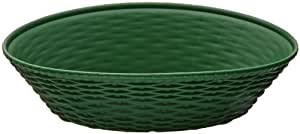"Carlisle 650409 WeaveWear Polypropylene Oval Basket, 1.1 qt. Capacity, 9"" L x 6-1/4"" W x 2-1/2"" H, Green (Case of 12)"
