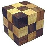 木製立体パズル スネークキューブ(大) 知育玩具 木のおもちゃ