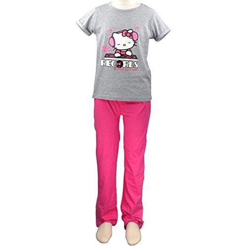 Hello Kitty Schlafanzug grau [122/128]