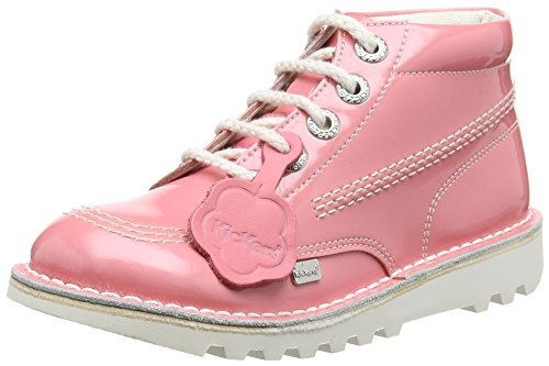 KickersKick Hi Ss16 Patent Junior Girls Boot, Light Pink - Stivaletti da ragazza' , rosa (Pink (Light Pink)), 33 EU