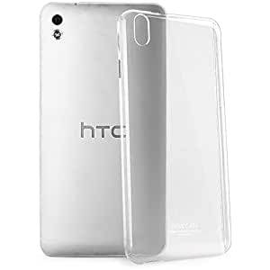 HTC Desire 816 Case by Formal funky™ Thin Cover TPU Rubber Gel, Transparent Soft Silicone Clear Back with Microfiber cloth (Pack of 2)