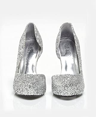 ruby prom shoes gena silver glitter shoe with