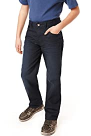 Autograph Pure Cotton Adjustable Waist Straight Leg Jeans