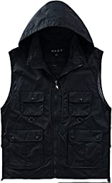Alipolo New Outdoor Casual Quick-drying Extra Pockets Fishing Vest Black US M/Label M