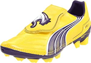 PUMA Men's V1.11 K I FG Soccer Cleat,Vibrant Yellow/Parachute Purple,10 D US