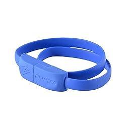 Daily Shoppers Cliptec WRIST BRACELET Slim Flat USB 2.0 Micro-B Cable Blue Color