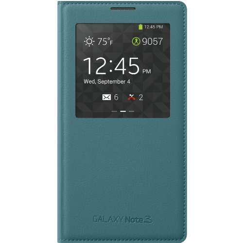 Samsung Galaxy Note 3 Case S View Flip Cover Folio - Light  Blue