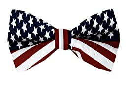 Red - White - Blue - American Flag Self Tie Bow Tie