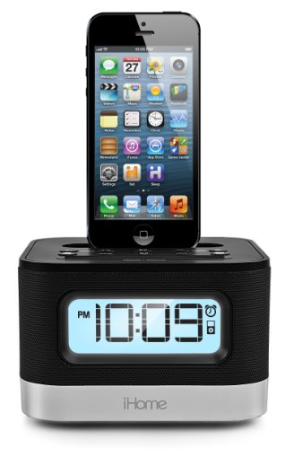 iHome  Dual Charging Stereo FM Clock Radio with Lightning Dock and USB Charge/Play for iPhone/iPod
