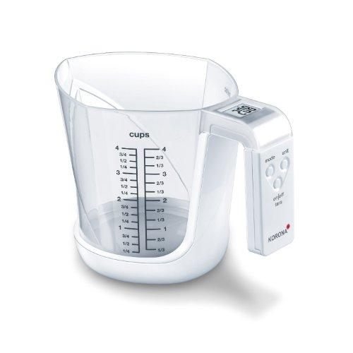 Korona 2050171 Mia Balance de Cuisine Électronique en Blanc
