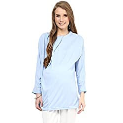 Mamacouture Sky Blue Polyester Top for Women