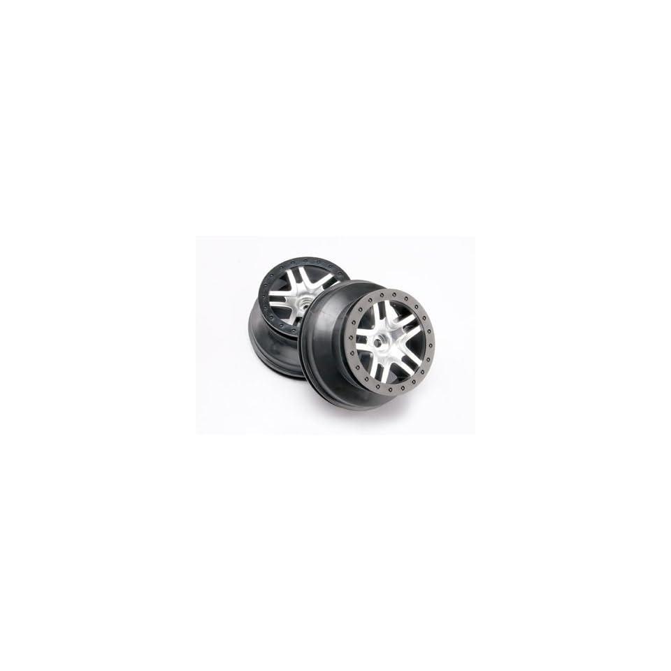 SCT Split Spoke Chrome Wheel(2)FR 2WDSLH,Slash4x4 Toys