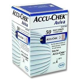 Accu-Chek Aviva Test Strips, 1 Code Key, 50 ct.