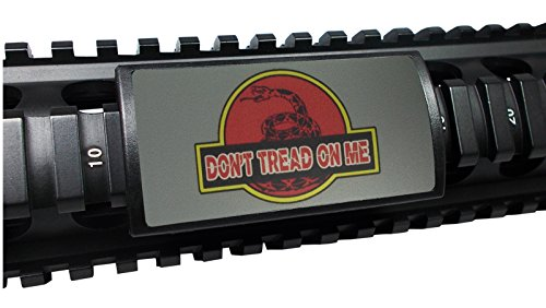 Ultimate Arms Gear Treadasaurus DTOM Don't Tread On Me Laser Engraved Permodized Aluminum Custom Protect, Large, USA MADE (Rail Covers Custom compare prices)