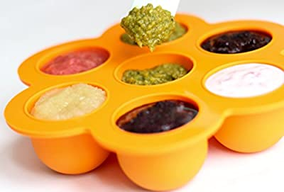 Baby Food Storage Container with Lid - Best Silicone Tray for Freezing Fresh Homemade Baby Food and Making Big Ice Cubes - BPA Free and FDA Approved by Baking Wizards that we recomend individually.