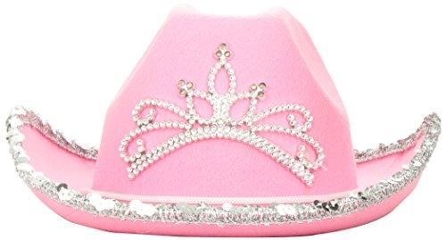Rhode Island Novelty Child Pink Blinking Tiara Cowboy Hat
