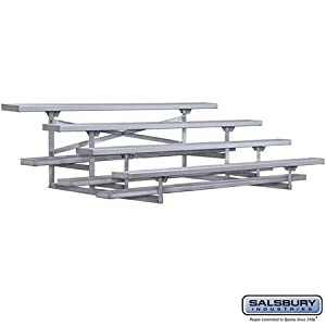 4 Row Aluminum Portable Bleachers - 7 Feet and 6 Inches Length by Salsbury Industries