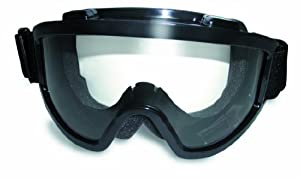windshield clear anti-fog airsoft safety goggles that also fit over glasses