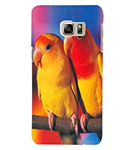 ColourCraft Love Birds Design Back Case Cover for SAMSUNG GALAXY NOTE 5 EDGE