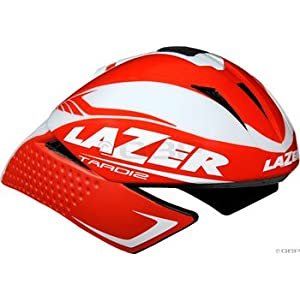 Lazer Tardiz Helmet: Red/White; XS-MD (50-57cm)