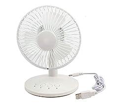 Can shifting gear Electric Portable Office desk USB Mini Fan Cooler 8Inch black