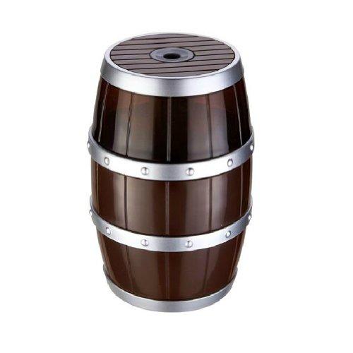 Barrel Model Usb/Battery Auto Electric Pencil Sharpener (Brown)