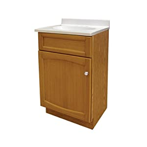 Foremost HEO1816 Heartland 18-Inch Oak Vanity with Top