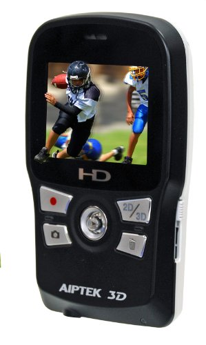 Aiptek 3D-HD High Definition 3D Camcorder (Black/White)