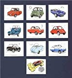 Classic Bubble Cars, Henkel, Isetta, Berkeley, Mounted cards