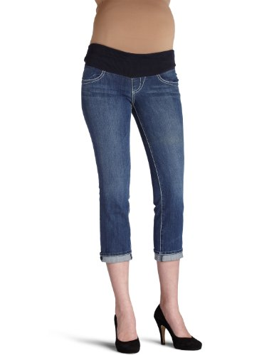 Serfontaine Women's Maternity Cruiser Cropped Jean