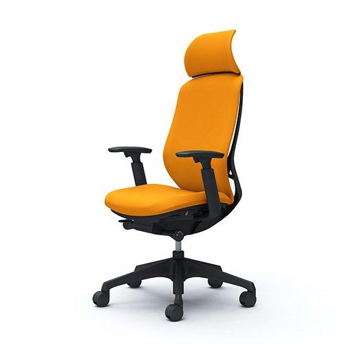 オカムラ オフィスチェア シルフィ― エキストラハイバック クッション アジャストアーム 樹脂脚 ブラックフレーム C68CXR-FSG8 オレンジ